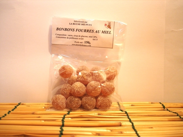 Bonbons fourrés au miel