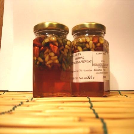 Confit pistaches, amandes, pignon