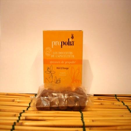 Gomme à la propolis gout orange